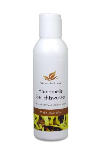 Hamamelis-Gesichtswasser - ohne Alkohol, für unreine und fettige Haut