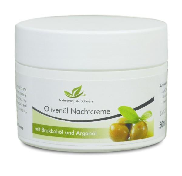 Olivenöl-Nachtcreme mit Arganöl