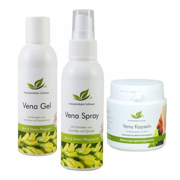 Vena Beinpflege Set - Venengel, Venenspray und Vena Kapseln
